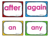 vocabulary list - 1st grade sight words - 41 cards