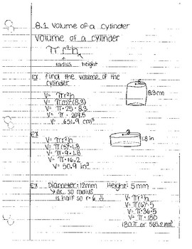 volume notes by section