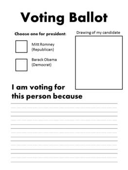 voting ballot for 2012 election