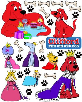 Clifford the Big Red Dog Stickers to Print