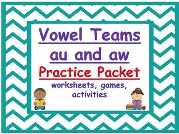 vowel teams au and aw