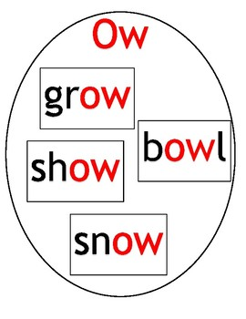 vowels Teams long O: o, oa and ow Cards