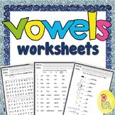 vowels worksheet