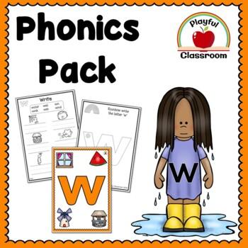 w Phonics Worksheet Pack