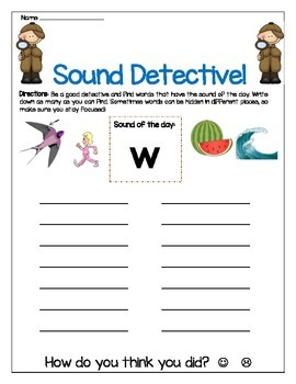 w sound Write The Room Worksheet