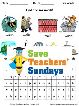 wa Words Lesson Plans, Worksheets and Other Teaching Resources