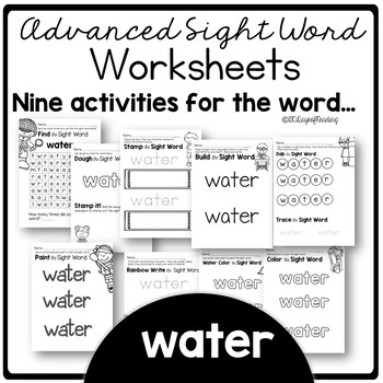photo about Printable Sight Word Activities referred to as Printable Sight Phrase Things to do for the Term H2o