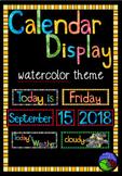 watercolor CLASS CALENDAR DISPLAY ~ print, laminate and display!