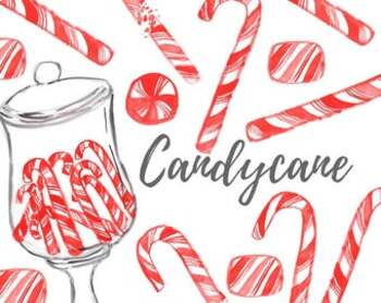 Christmas Candy Clipart.Watercolor Christmas Candy Clipart