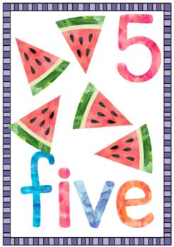 watercolor NUMBER POSTERS ~ 1 to 20 ~ print, laminate and display!