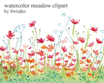 watercolor meadow clipart #6
