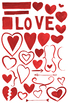 watercolor hearts, valentine's day, love clipart