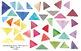 watercolor triangles, geometric figures