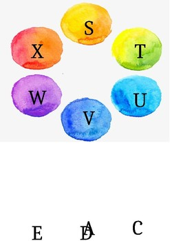 watercolour word wall/alphabet