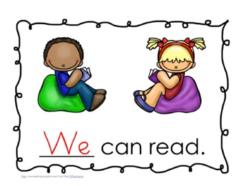 """Sight Word Practice Book and Emergent Reader-""""we"""""""