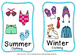 weather and season sort Plus flash cards to match