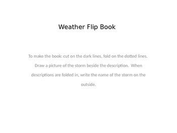 weather flip book