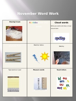 weather word work