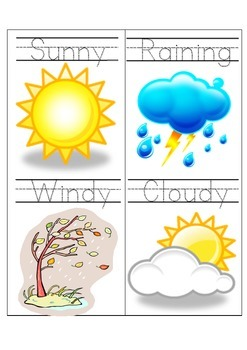 weather words tracing