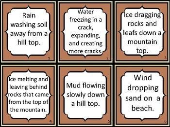 Card Sort: Weathering, Erosion, Deposition