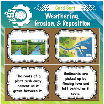 Weathering Erosion And Deposition Card Sort Teaching Resources