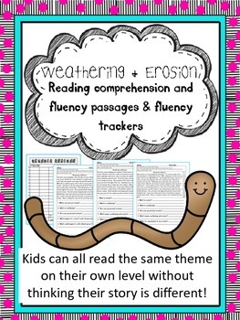 weathering and erosion fluency and comprehension passages