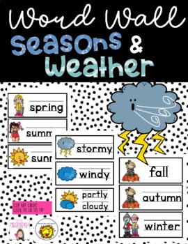 weather/seasons word wall cards