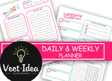 Colorful weekly & daily planner for calendar