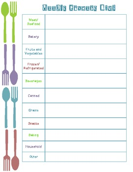 weekly meal and grocery planners