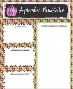 weekly newsletter template September
