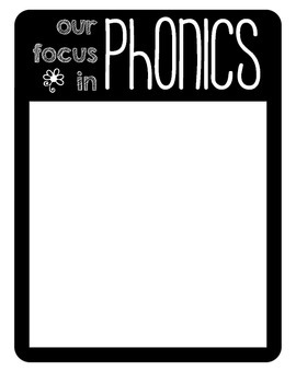 weekly phonics and sight word focus