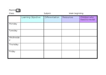graphic relating to Weekly Planning Sheets named weekly building templates