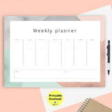 weekly  to do list schedule - printable download
