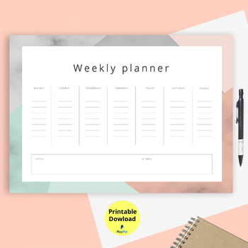 image relating to Printable Weekly to Do List known as weekly toward do checklist routine - printable obtain