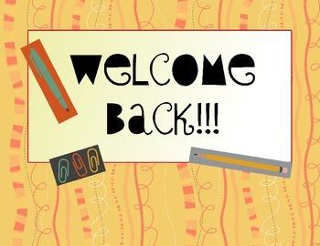 welcome back classroom bulletin board