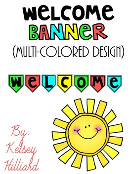 classroom decor welcome banner (multi-colored)  only $1.00 back to school
