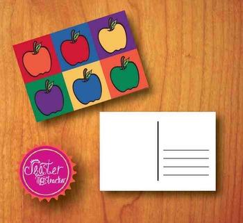 welcome postcards Apple Pop Art