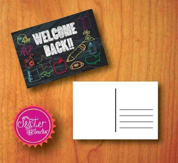 welcome postcards Chalkboard