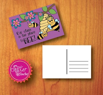 welcome postcards Our class is the place to bee