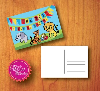 welcome postcards The best class on earth circus theme
