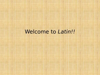 welcome to latin fun first day latin quiz