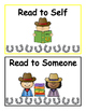 Western Themed Daily 5 and Literacy Centers Rotation Cards