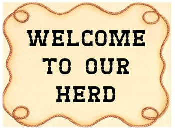 western theme classroom sign or poster