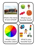 """""""wh"""" Comprehension Question Flashcards for Circle Time and"""