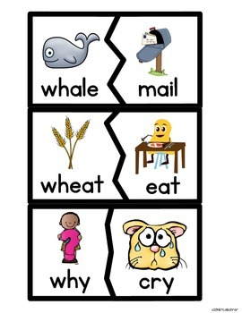 wh Digraph Literacy Centers