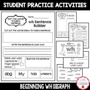 Beginning /wh/ Digraph Pack