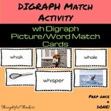 wh Digraph Picture/Word Matching Activity