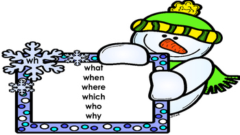 wh--Sight Words for Winter