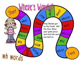 wh digraph game freebie: Where's Wanda?