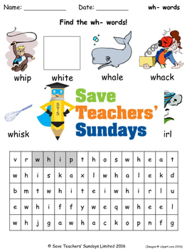 wh phonics lesson plans, worksheets and other teaching resources